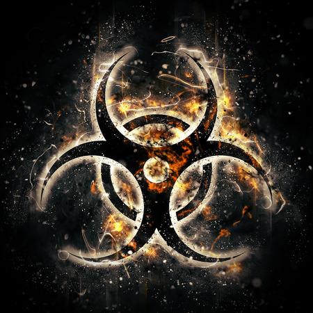 riesgo biologico: la quema de señal de peligro biológico