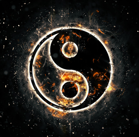 yinyang: Burning yin-yang sign