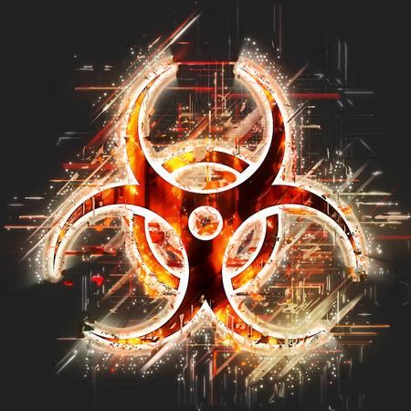 riesgo biologico: Muestra abstracta de riesgo biológico