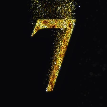 number 7: Gold number 7