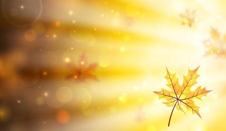 autumnal: Blurred autumnal background Illustration