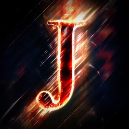 red light: Red light letter J