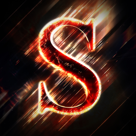 Red light letter S