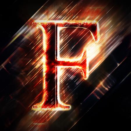 speck: Red light letter F
