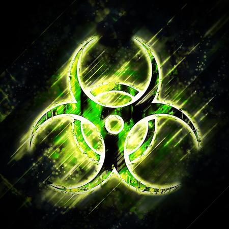 biohazard sign: Abstract  biohazard sign