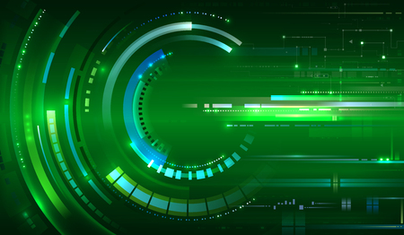 Green tech background isolated on plain bAckground Foto de archivo - 97617449