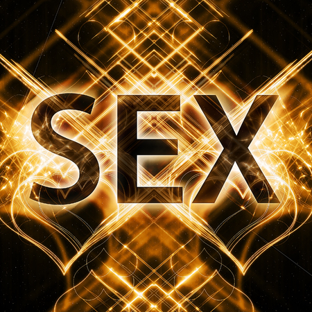 Word sex with neon effect