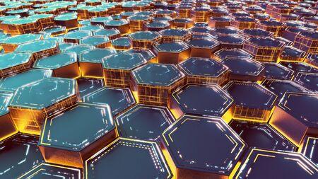 Abstract hexagonal modern