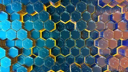 Hexagonal abstract modern backdrop