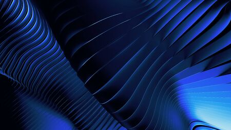 Wavy blue abstract