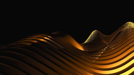 Wavy gold abstract