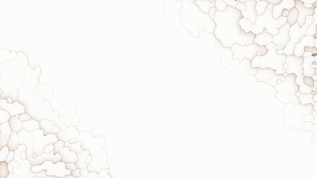 Abstract background with white poligonal elements. 3d render.
