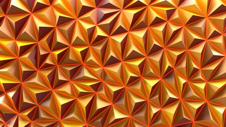 Geometric orange abstract background. 3d render.