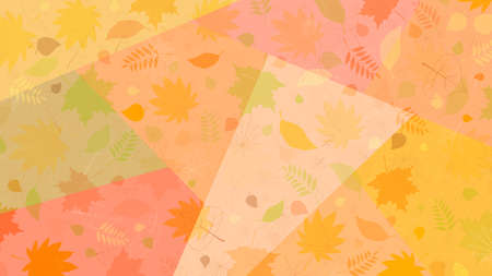 Autumn decorative background with fallen leaves