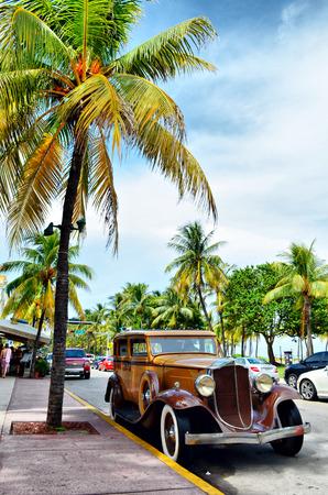 antique car: Antique car in florida town
