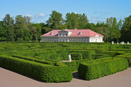 The Palace and Park ensemble Oranienbaum, a maze in the Lower garden and Picture house
