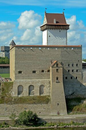 herman: The Narva castle and the tall Hermann tower, Estonia