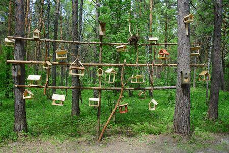 feeders: Kemerovo, feeders and houses for birds in the Park Tomskaya pisanitsa