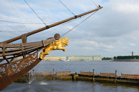 bowsprit: St. Petersburg, the bowsprit of the frigate Grace and views of the river Neva