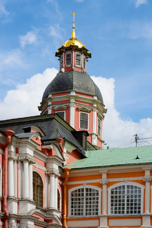 lavra: St. Petersburg, Church of the Annunciation in the Alexander Nevsky Lavra Stock Photo