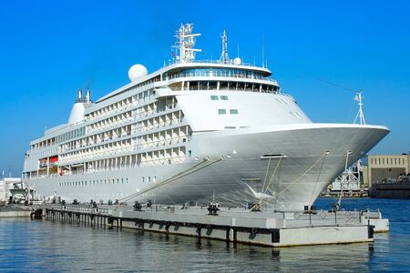 lieutenant: Cruise ship at berth on Lieutenant Schmidt Embankment in St. Petersburg