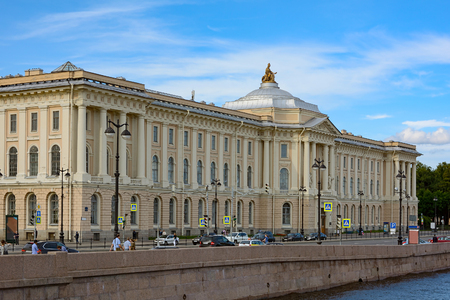 blagoveshchensky: The building of the Academy of Arts in St. Petersburg, view from the Blagoveshchensky bridge Editorial