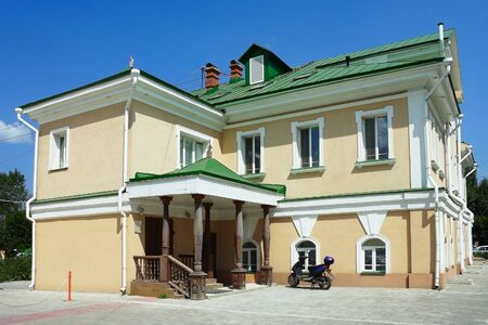 eighteenth: Tomsk, the former House of the commandant of the city de Villeneuve (House of Radishchev) Stock Photo