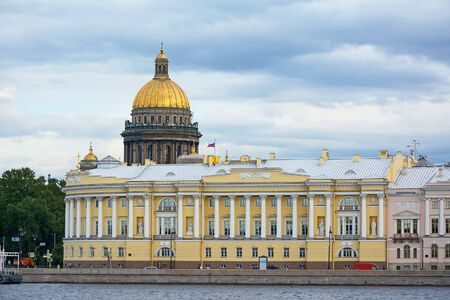 constitutional: St. Petersburg, the building of the constitutional court of the Russian Federation on the English embankment of the Neva river