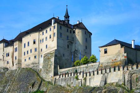 impregnable: Prague, Sternberg, the castle was photographed earlier, on a summer morning