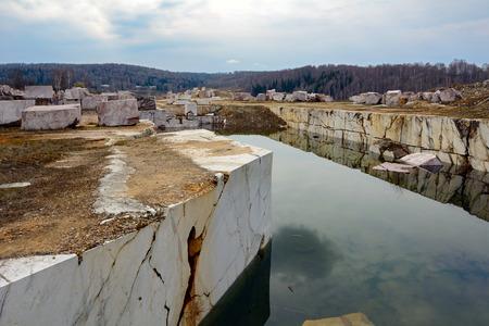 novosibirsk: The old generation of the marble quarry near the village Peteni, Novosibirsk region