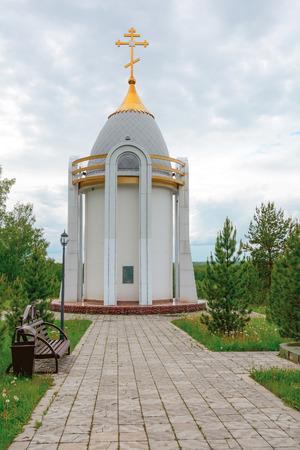 Orthodox Chapel St. Filaret Sreznevsky in the village of Verkh-chebula on the high Bank of the same river, Kemerovo region