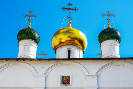Moscow, fragment of the Cathedral of the presentation of the Theotokos of Vladimir at the Sretensky monastery Stock Photo