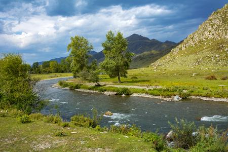 Ursul river in the Altai mountains, Altai Republic