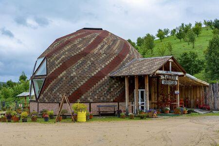 Тeahouse in the arboretum Altai Hillside, the village of Altai, Altai Krai