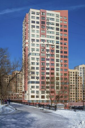 Kemerovo, a modern apartment building in the center of the city