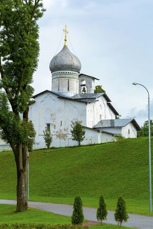 Pskov, the old Orthodox Church of Peter and Paul with Buoy, an interesting tourist place
