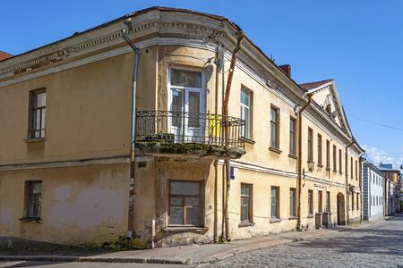 Vyborg, Lund house, apartment building, 18th century building, historical part of the city, Russia Stock Photo