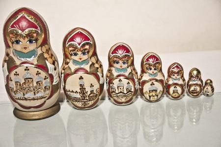 matrioska: Matrioska - Russian Dolls on a mirror, series