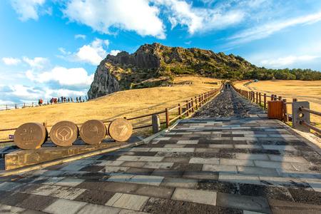 SONGSAN ILCHULBONG in Jeju island , South Korea