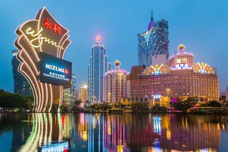 Macau, Chine - 28 janvier bâtiments de casino de Macao Galaxy le 28 Janvier 2013, Wynn Casino est l'emblème de la ville de Macao en Chine Éditoriale