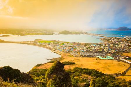 Songsan Ilchulbong sur l'île de Jeju, en Corée du Sud Banque d'images - 27819367