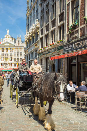 BRUSSELS, BELGIUM - MAY 16   Grand Place in Brussels on May 16, 2014 in Belgium