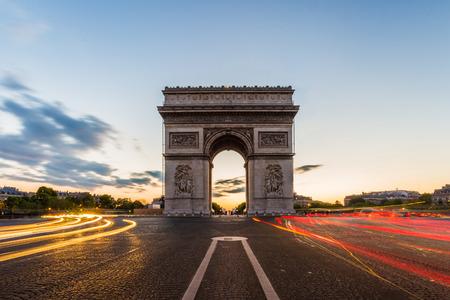Arc de Triomphe à Paris Banque d'images