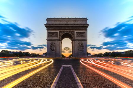 champs elysees quarter: Arc de Triomphe Paris , France