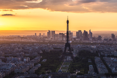 Eiffel Tower Paris Skyline