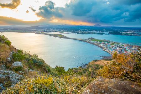 north island: SONGSAN ILCHULBONG in Jeju island , South Korea