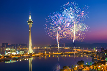 Macau Fireworks China Editorial