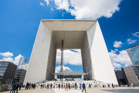 PARIS - MAY 14: View of La Defense on May 14, 2014 in Paris. La Defense is a major business district of Paris.
