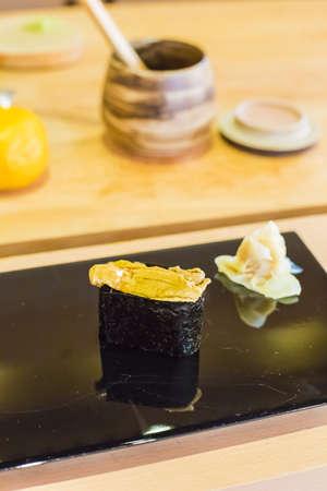 uni: Uni Sushi fresh japan food Stock Photo