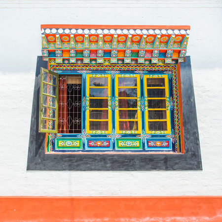 gelugpa: Tibet window style in Sikkim, India